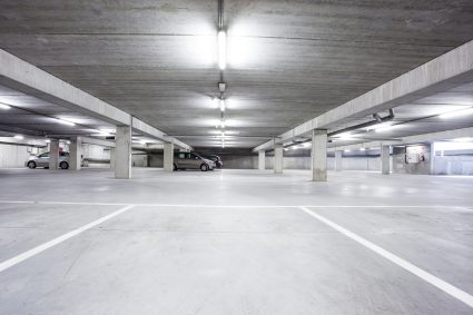 an underground garage